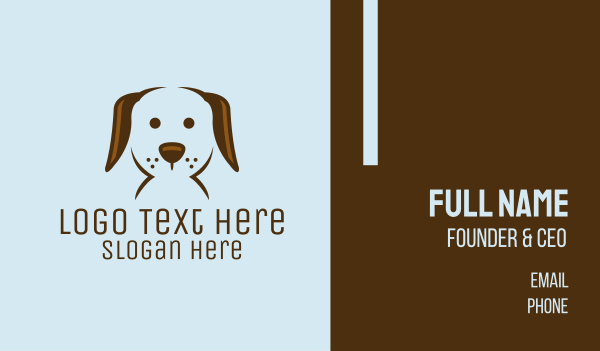veterinary clinic - Pet Puppy Dog Face Business card horizontal design