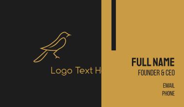 Golden Bird Business Card