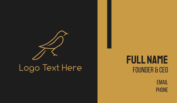 sparrow - Golden Bird Business card horizontal design