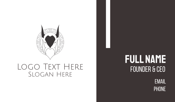 beard - Evil Goat Business card horizontal design
