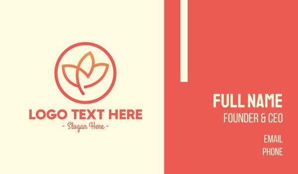 flower design - Simple Lotus Flower Business card horizontal design