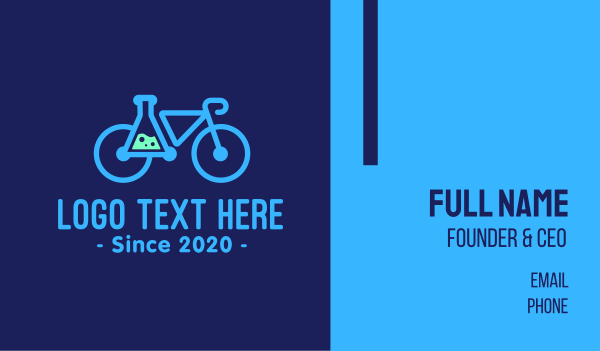 science experiment - Modern Science Bike Business card horizontal design