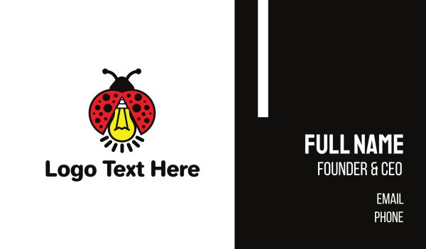 think tank - Bug Light Business card horizontal design