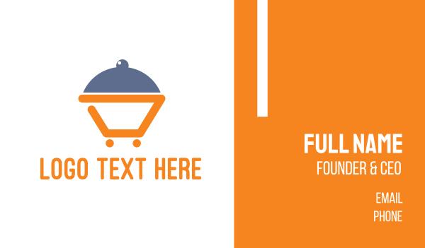booking - Abstract Dinner Cart Business card horizontal design