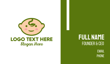 Cute Baby Leaf Business Card
