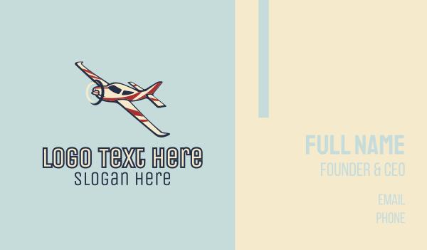 aerial - Glider Plane Business card horizontal design