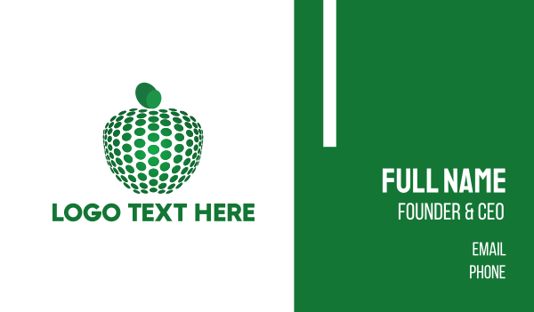 sandblast - Dots & Green Apple Business card horizontal design