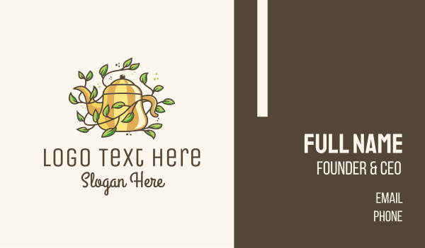 homemade - Kettle Teapot Vine Business card horizontal design