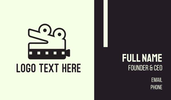 film studio - Crocodile Film Business card horizontal design