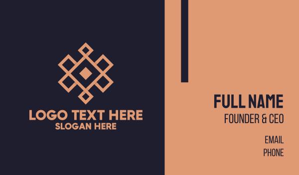 feng shui - Geometric  Pattern Business card horizontal design