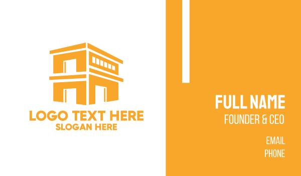 depot - Gold Shop Building Business card horizontal design