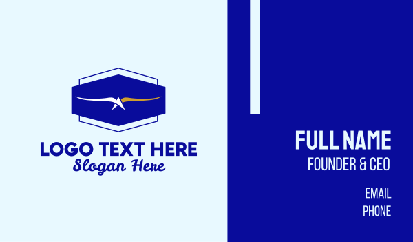 flying bird - Flying Eagle Airline  Business card horizontal design