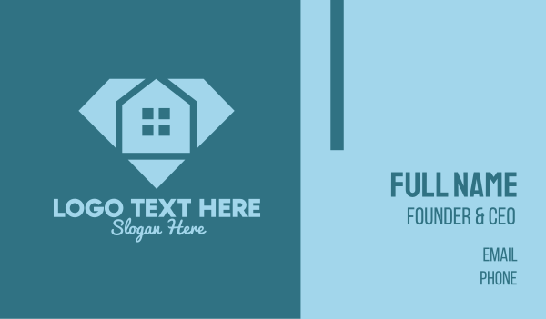 interior designing - Diamond House Business card horizontal design