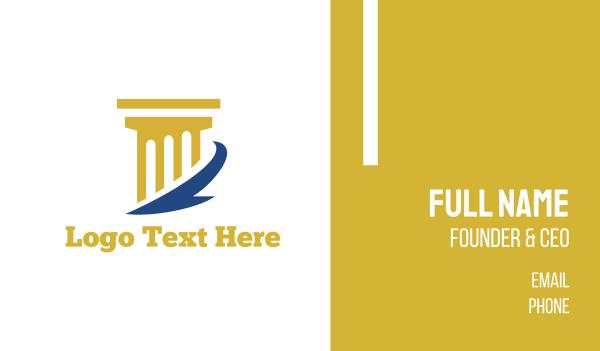 hermes - Golden Column Business card horizontal design