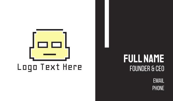 wix - Pixel Boy Business card horizontal design