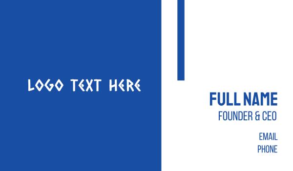 hermes - Traditional Greek Text Business card horizontal design