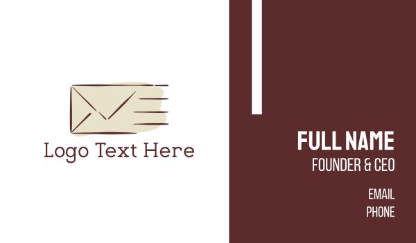 swift - Fast Mail Business card horizontal design