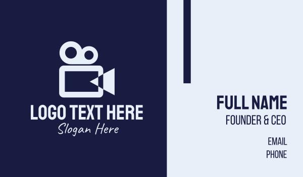 film studio - Movie Production Company Business card horizontal design