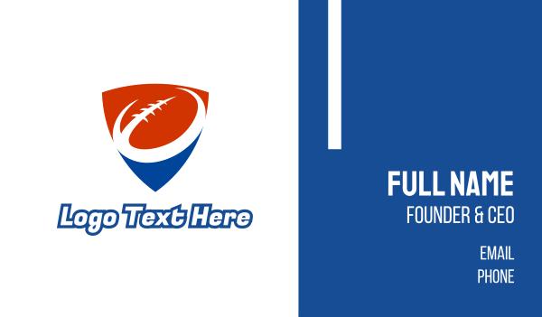 nfl - Red Blue Football Business card horizontal design
