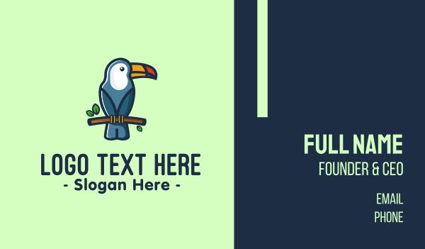 tropical bird - Tropical Toucan Bird Business card horizontal design