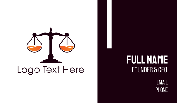 independence - Fresh Justice Business card horizontal design