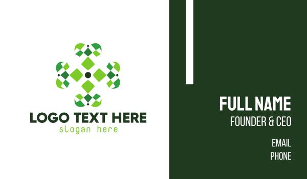 four leaf clover - Four Leaf Clover Business card horizontal design