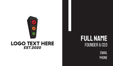 Speaker Stoplight Business Card