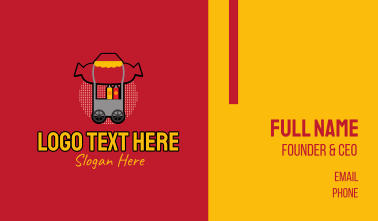 Retro Hot Dog Stall Business Card