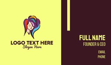 Hair Color Stylist Business Card