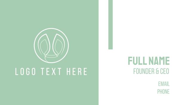 white circle - Circle & Face Business card horizontal design