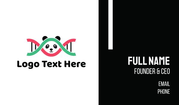 genes - DNA Panda  Business card horizontal design
