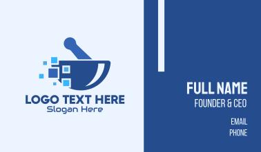 Blue Pixels Pharmacy Business Card