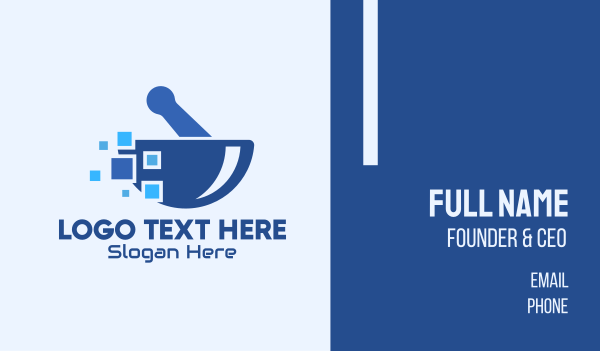 telehealth - Blue Pixels Pharmacy Business card horizontal design