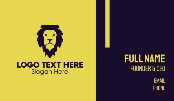 safari park - Wild Lion Business card horizontal design