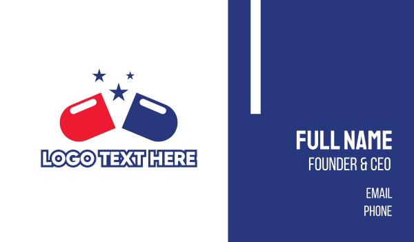 pharmacist - USA Pharmacy Business card horizontal design