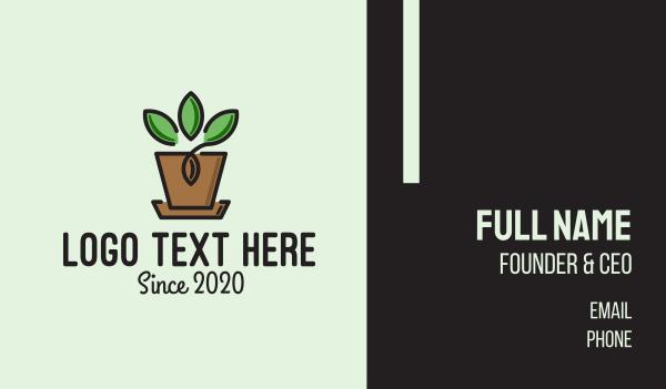 green thumb - Garden Plant Pot  Business card horizontal design