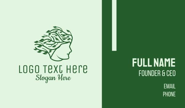 hair dye - Organic Hair Products Business card horizontal design