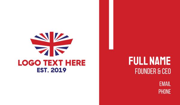 uk - Modern United Kingdom Flag Business card horizontal design