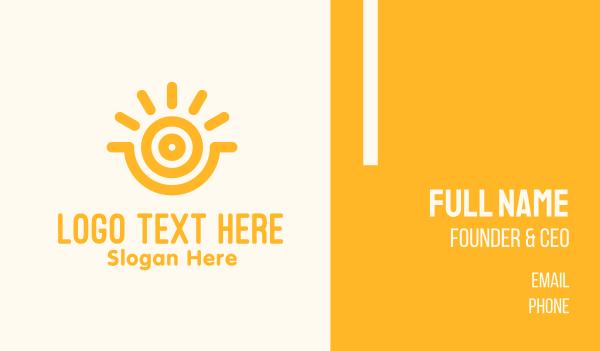 sunlight - Yellow Sunshine Energy Business card horizontal design
