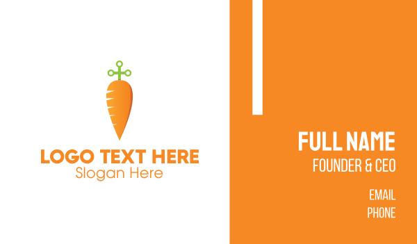 orange vegetable - Sword Carrot  Business card horizontal design