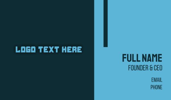 robotics - Blue Futuristic Text Business card horizontal design