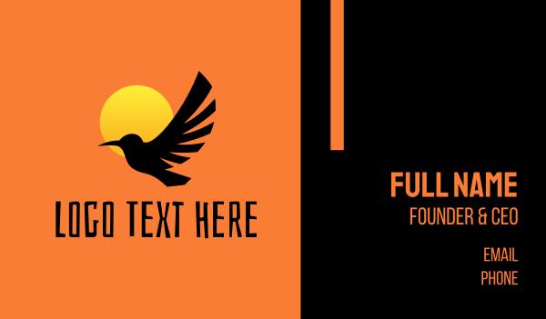 habitat - Bird Sunset Silhouette Business card horizontal design