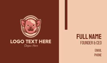 Vintage Pig Business Card