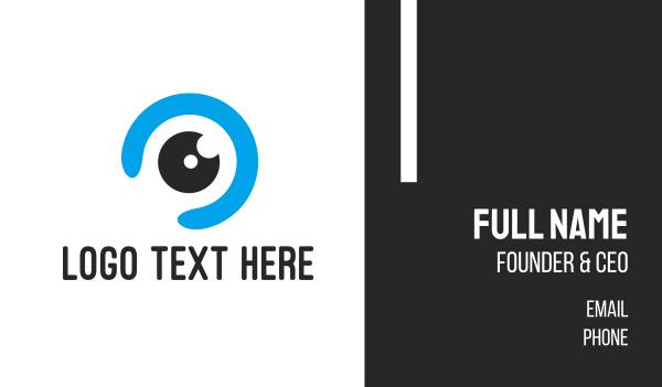 eyeglass - Blue Eye Ball Business card horizontal design