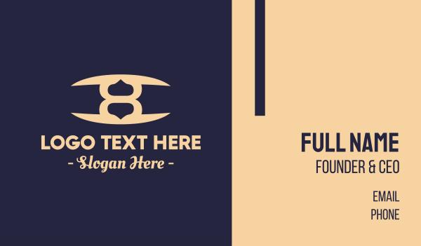 luxurious - Elegant Number 8 Business card horizontal design