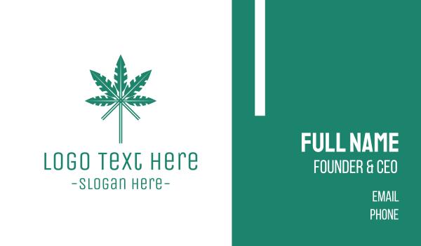 prohibited - Arrow Cannabis Business card horizontal design