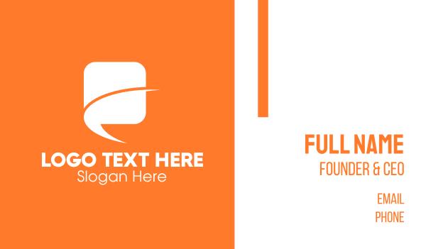 conversation - Messager Bubble  Business card horizontal design