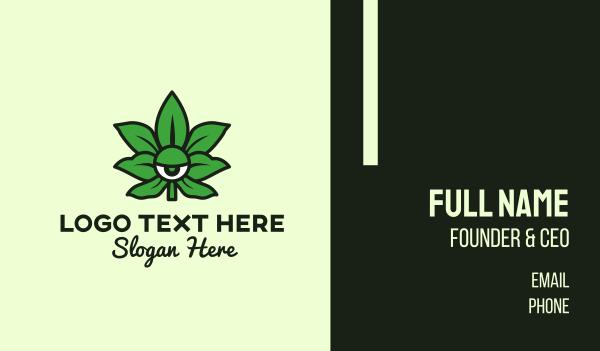 edible - Cannabis Weed Eye Business card horizontal design