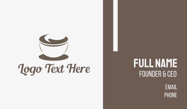full - Abstract Coffee Cup Business card horizontal design