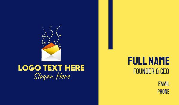 magic - Sparkle Invite Envelope  Business card horizontal design